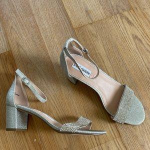 "Steve Madden Silver ""Carson"" heels"